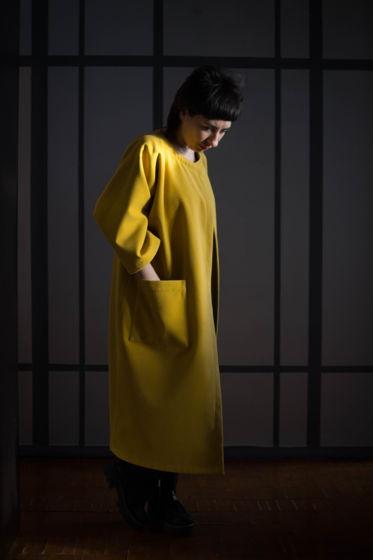 Двустороннее пальто из полушерстяной ткани BARAKUDA