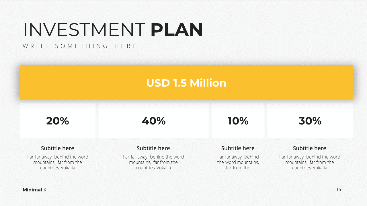 Minimal X Consulting Firm Proposal Presentation Template Investment Plan