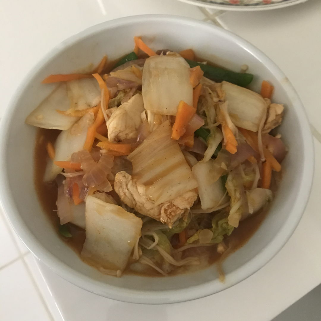 Made this dish using gochujang paste. Simple & quick to make!