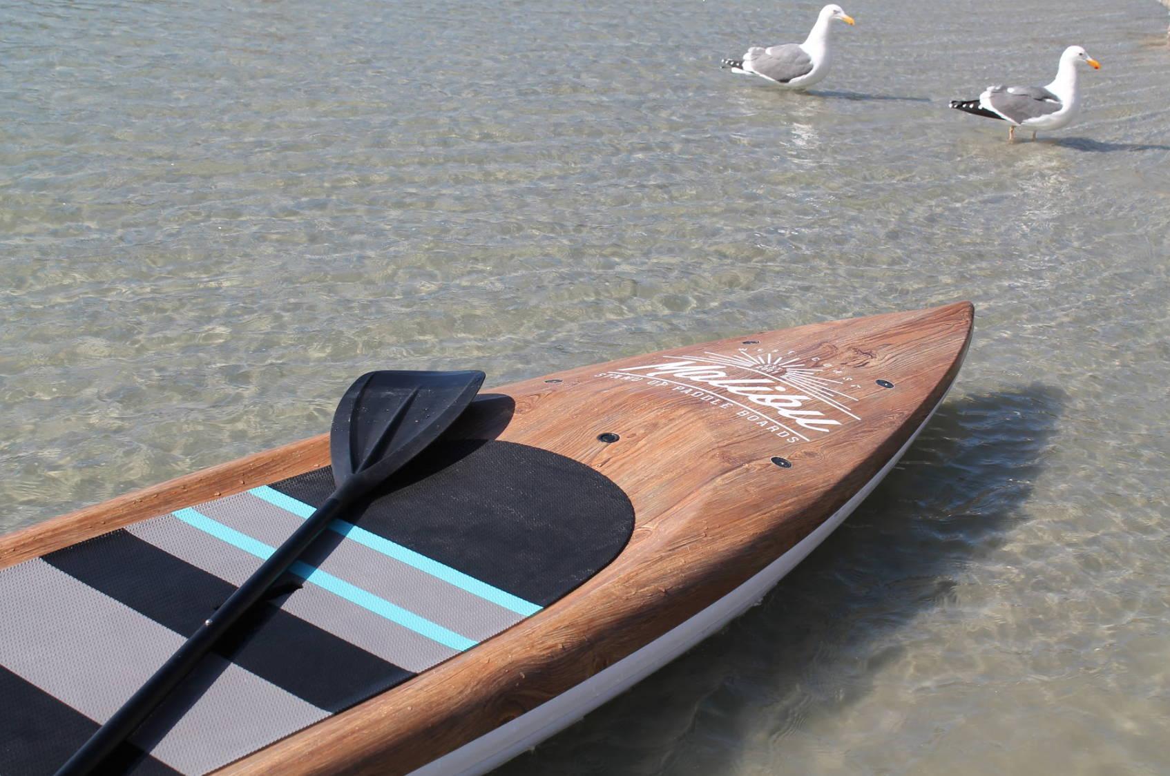 Malibu and Paddle WVT wood board in Orange County