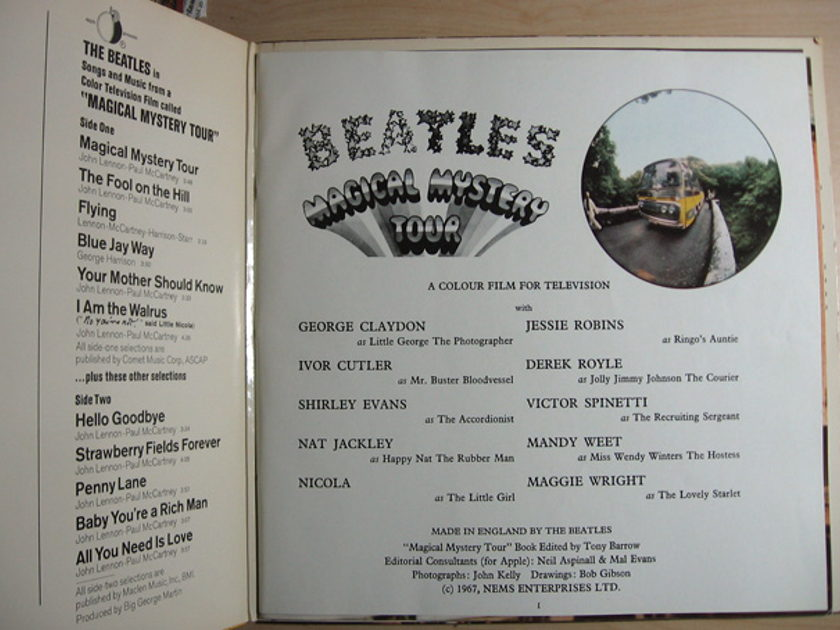 The Beatles - Magical Mystery Tour - 1976 Reissue  Capitol Records SMAL 2835
