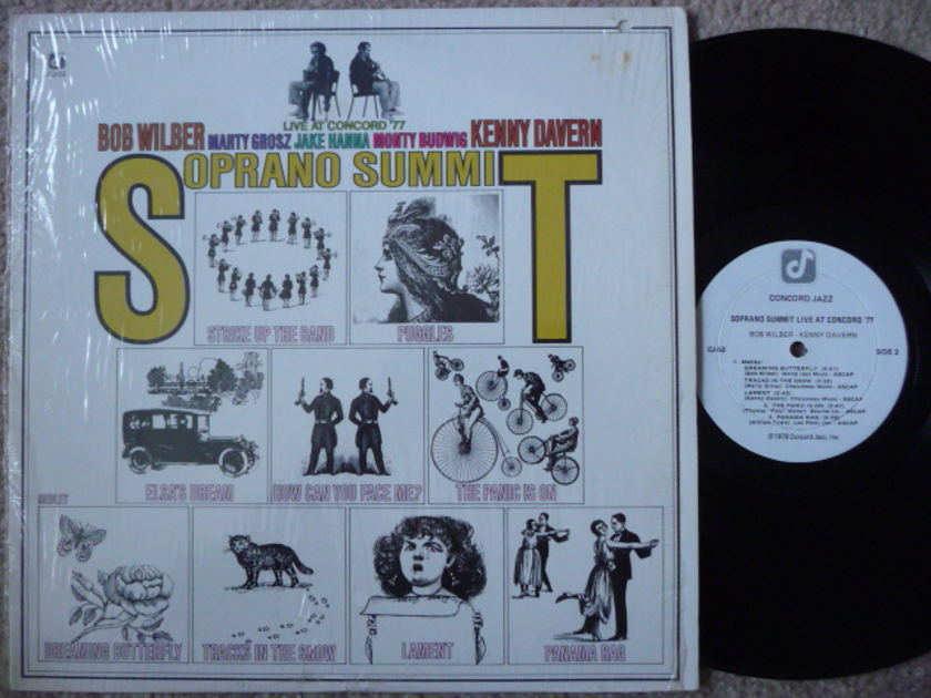 LIVE AT CONCORD '77 - BOB WILBER KENNY DAVERN CONCORD LP EX
