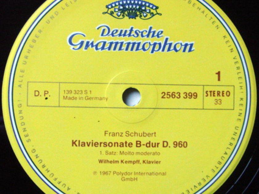 DG / WILHELM KEMPFF, - Schubert The Complete Piano Sonatas, MINT, 9LP Box Set!