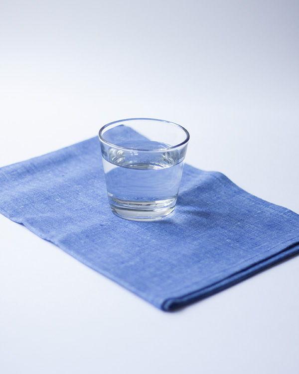 Льняное полотенце - Индиго Крайола