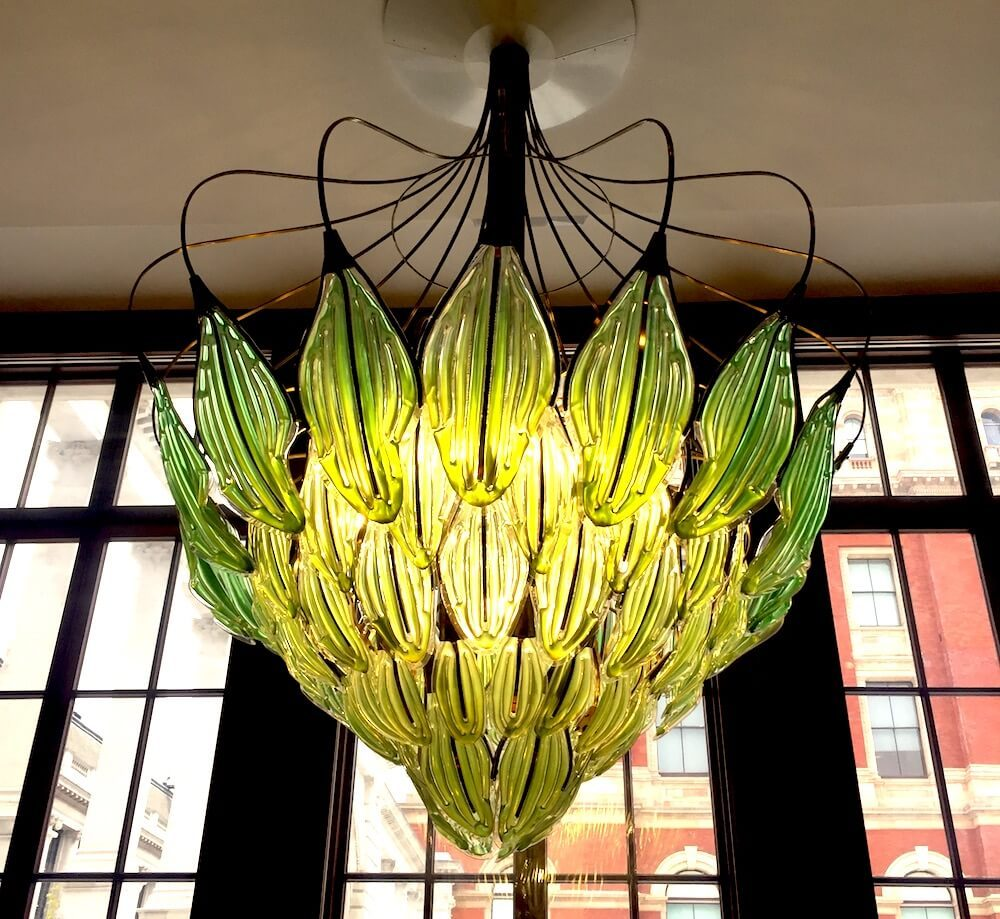 A living chandelier thats green with algae 2modern julian melchiorris exhale chandelier was on view at the victoria albert museum in london during the london design festival in september 2017 arubaitofo Images