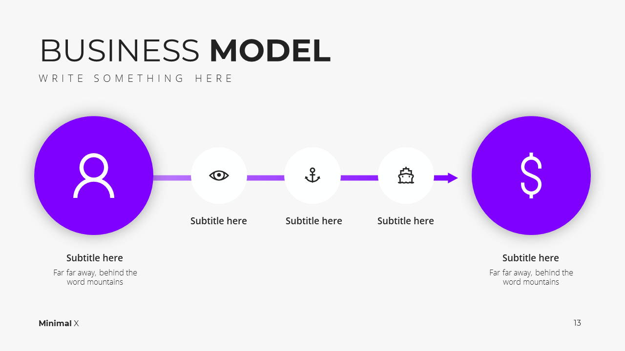 Minimal X Pitch Deck Presentation Template Business Model