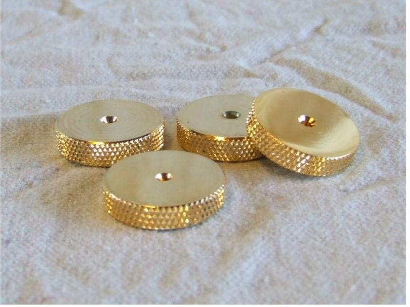 Adona Brass Floor Discs floor protectors