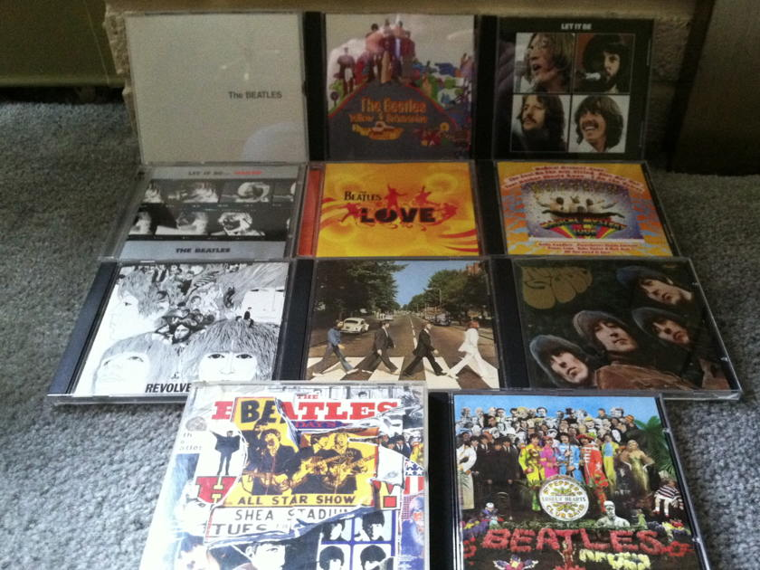 The Beatles - lot of 13 CDs free shipping and Free Paypal