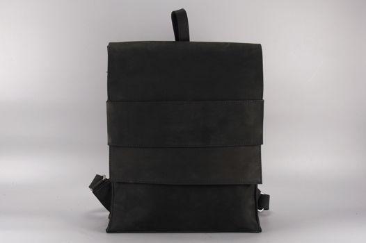 """Черный кожаный рюкзак """"Mi Minimal Black"""""""