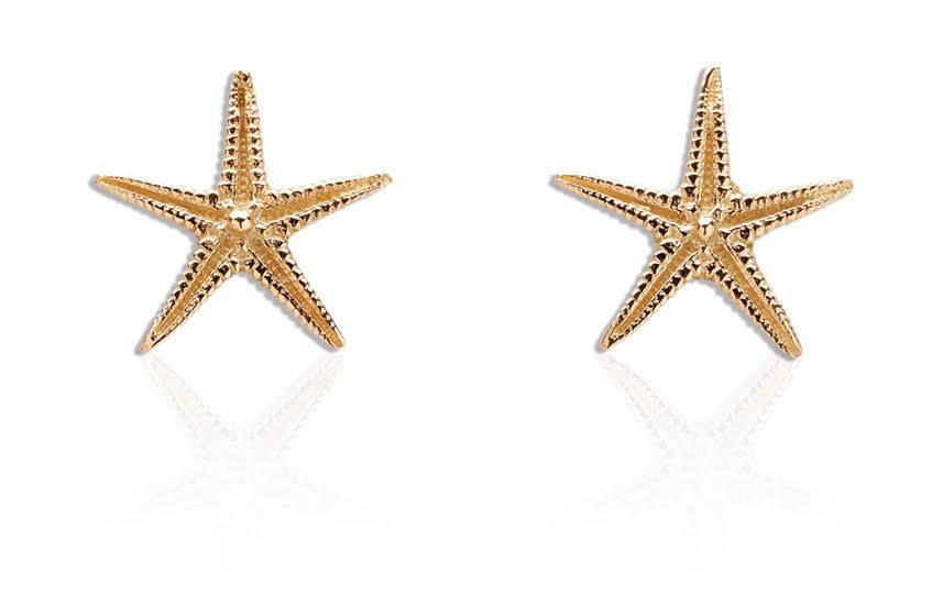 Starfish Gold Stud Earrings