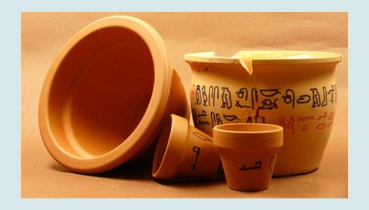 aegyptisches museum töpferware