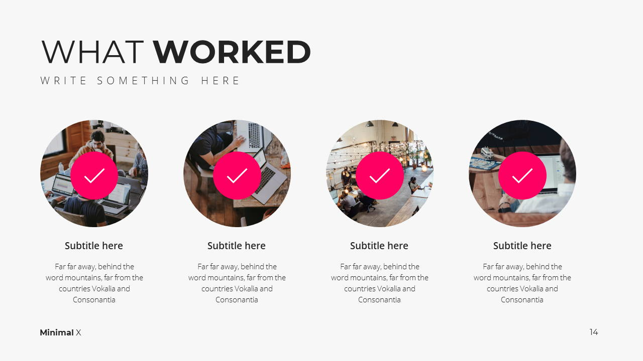 Minimal X Social Media Report Presentation Template What Worked