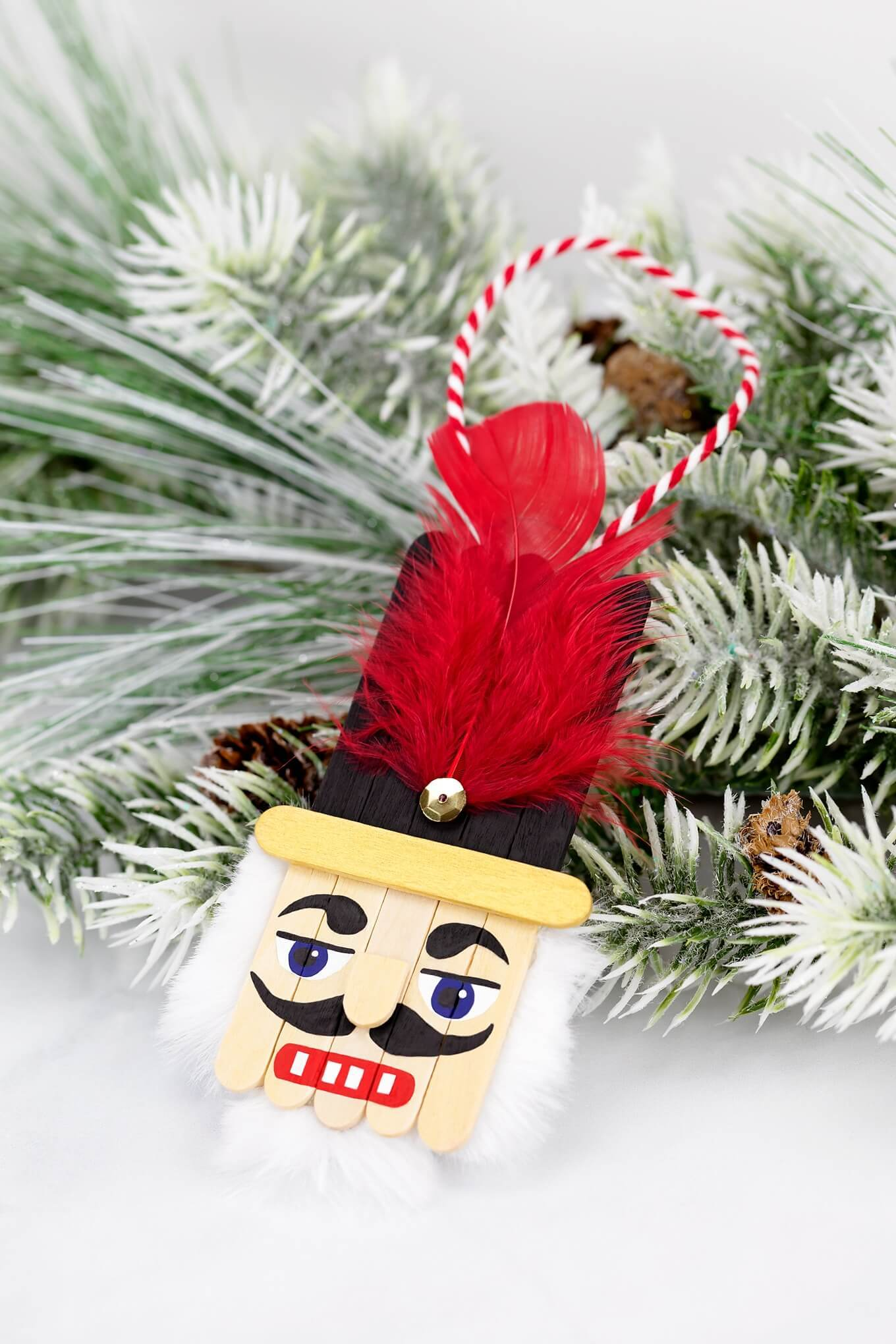 NUTCRACKER POPSICLE STICK ORNAMENT