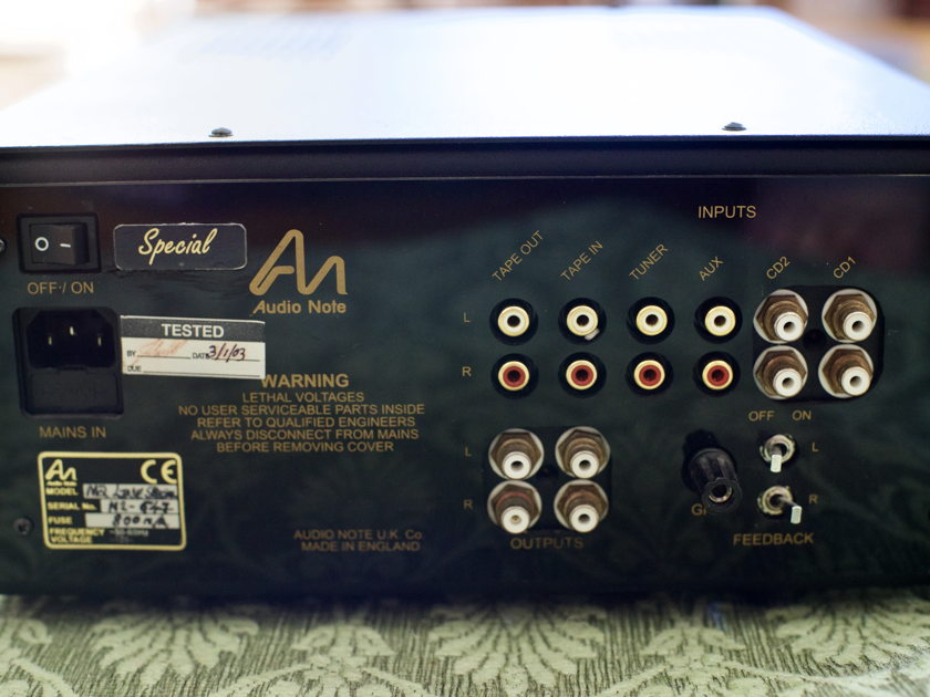 Audio Note UK M2 Line Special Edition tube preamp