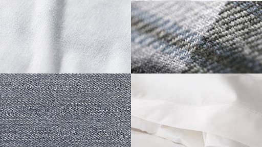Types of Cotton- Percale, Sateen, Twill, Flannel - Photo from Pimacott