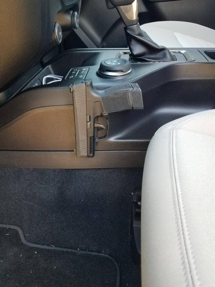 concealed gun mount for car