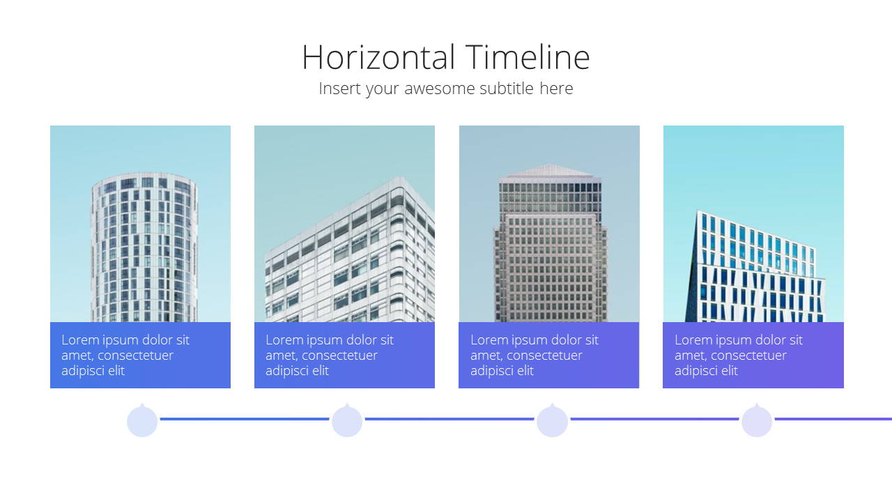 Modern X  Company Profile Presentation Template Timeline