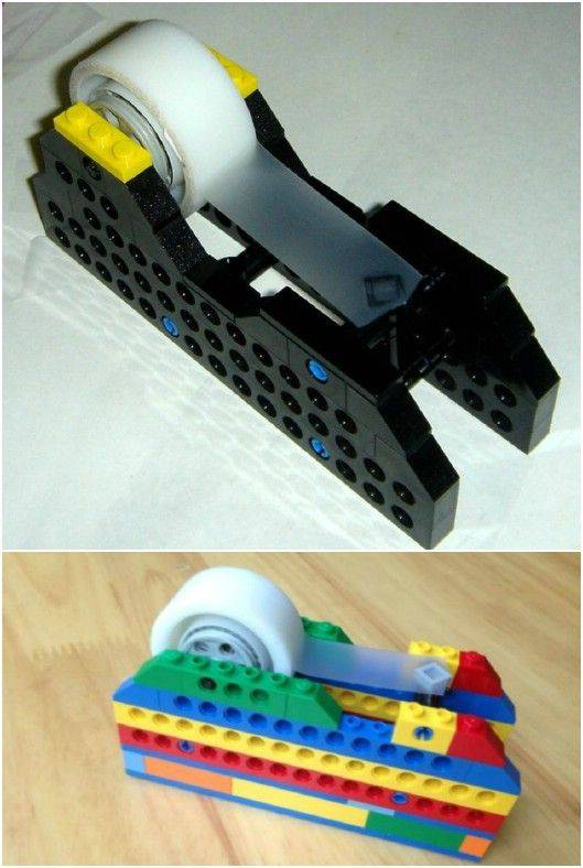Awesome DIY Lego Lamp and DIY Lego Tape dispenser