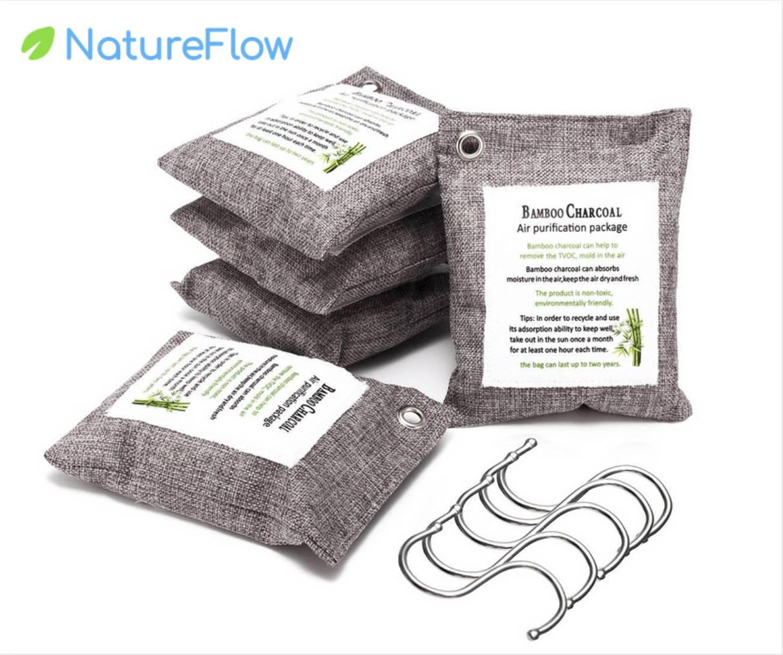 bamboo charcoal bags, bamboo charcoal air purifying bag,  naturefresh