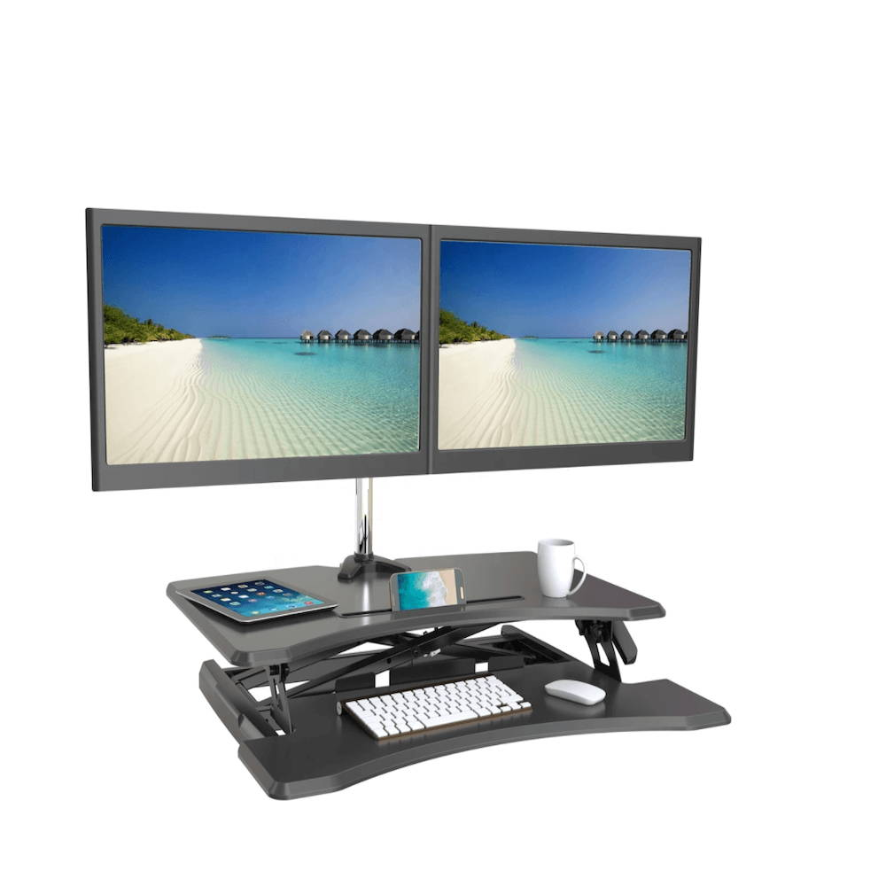 the best standing desk converter, standing desk compatible with monitor arm