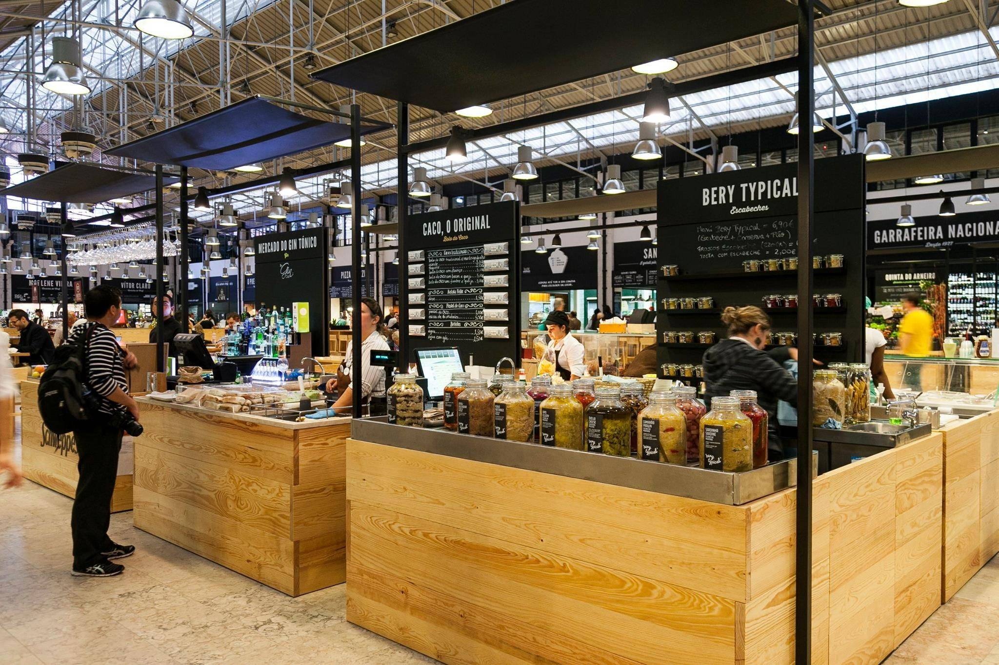 Our team picks Mercado da Ribeira in Lisbon to get fast food versions of local food.