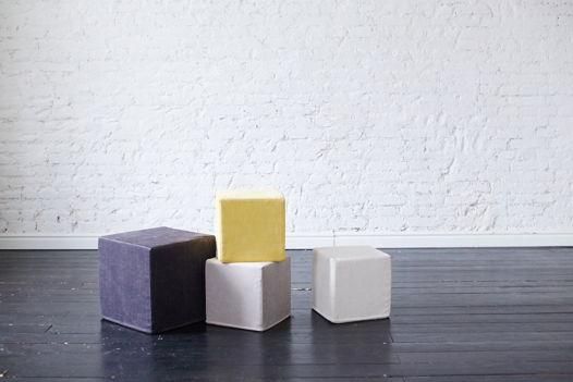 Поролоновый пуф-куб велюр