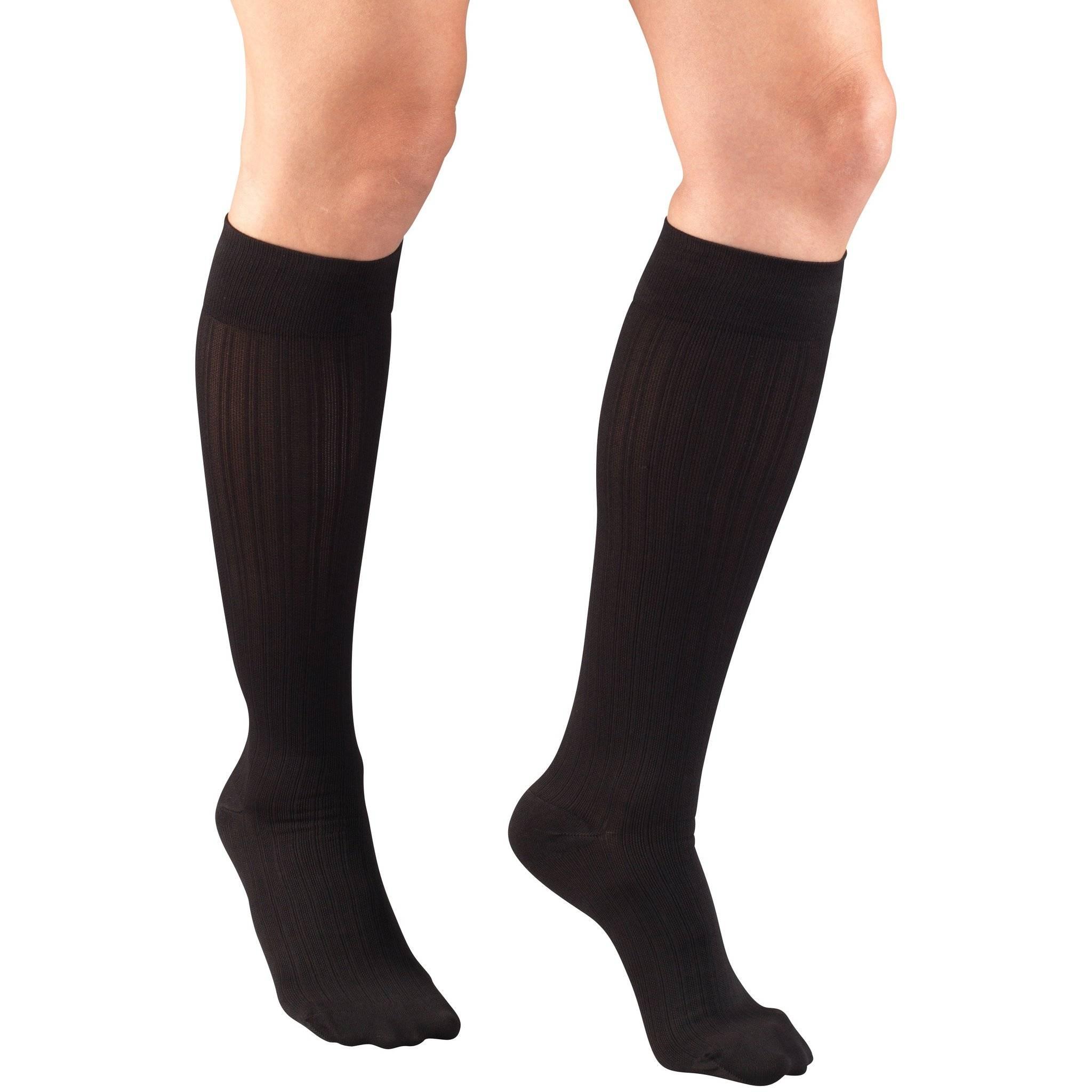 Ladies' Knee High Rib Pattern Socks