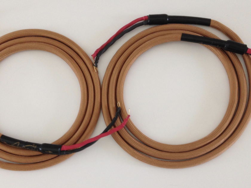 Soundstring  Tricomaxial 8 foot pair of  speaker cables with spades on each end