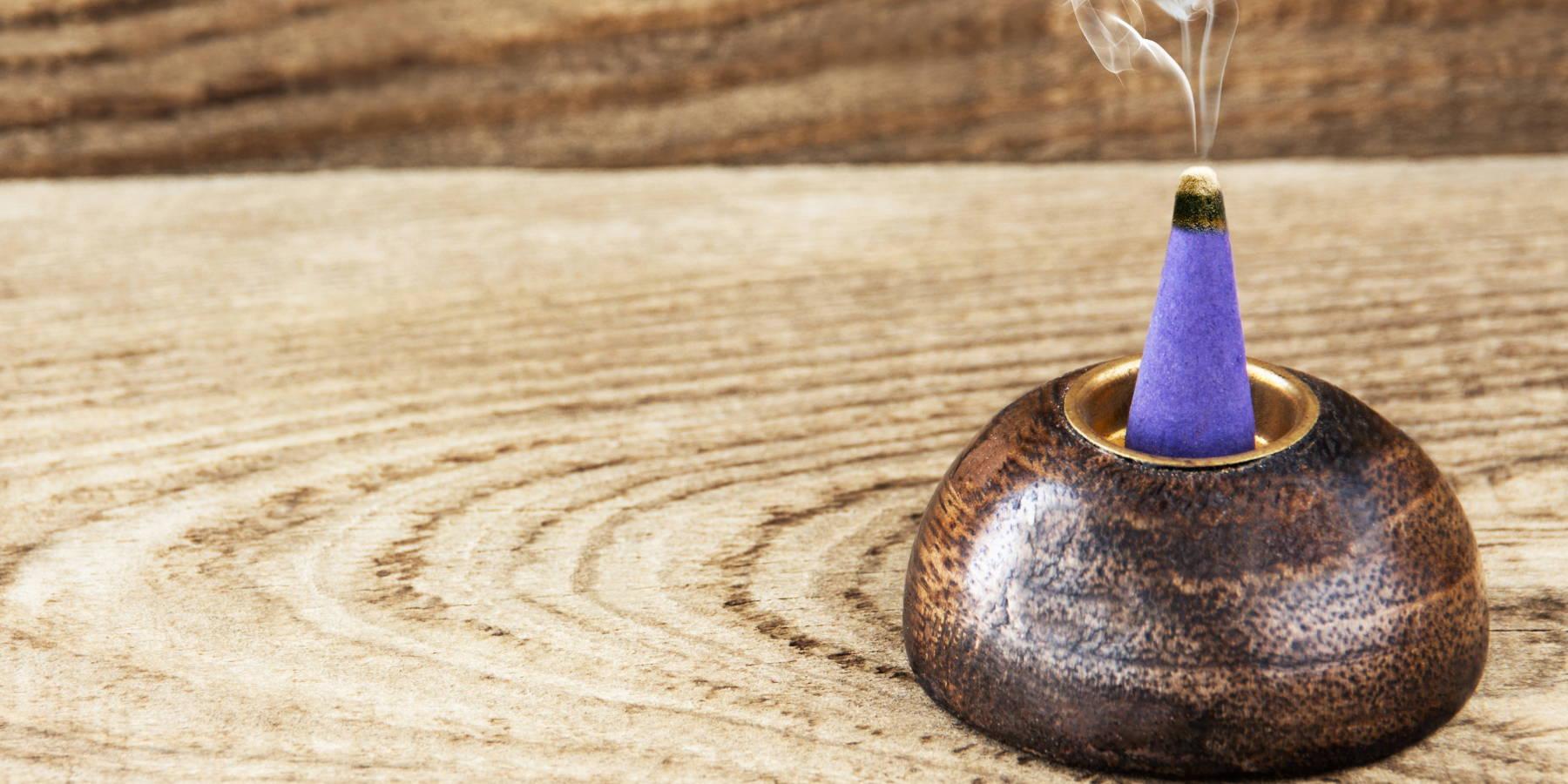 burning incense cones
