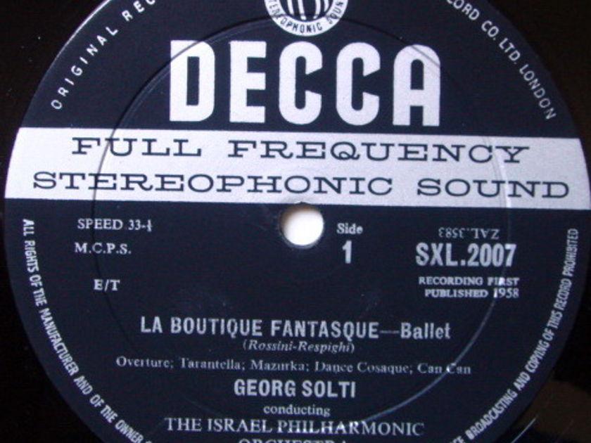 DECCA SXL-WB-BB-ED1 / SOLTI, - Rossini-Respighi La Boutique Fantasque, NM!