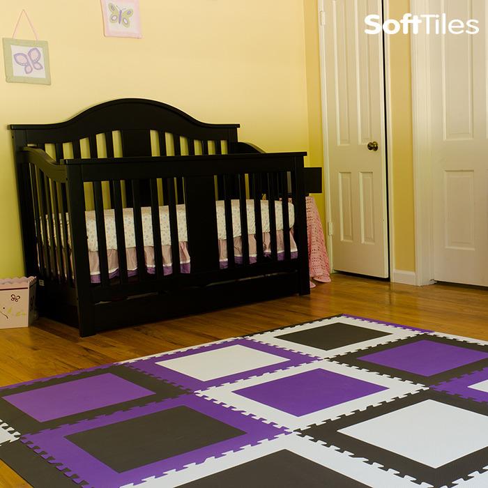 Play Mats Kids Foam Interlocking Floor Tiles Softtiles