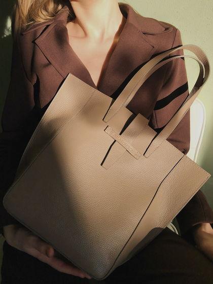 Женская сумка-тоут из натуральной кожи