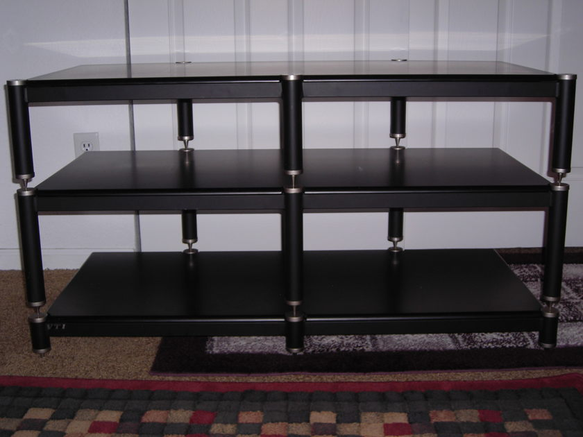 VTI BL-503 (Black w Silver Caps & Spikes) Audiophile rack/stand