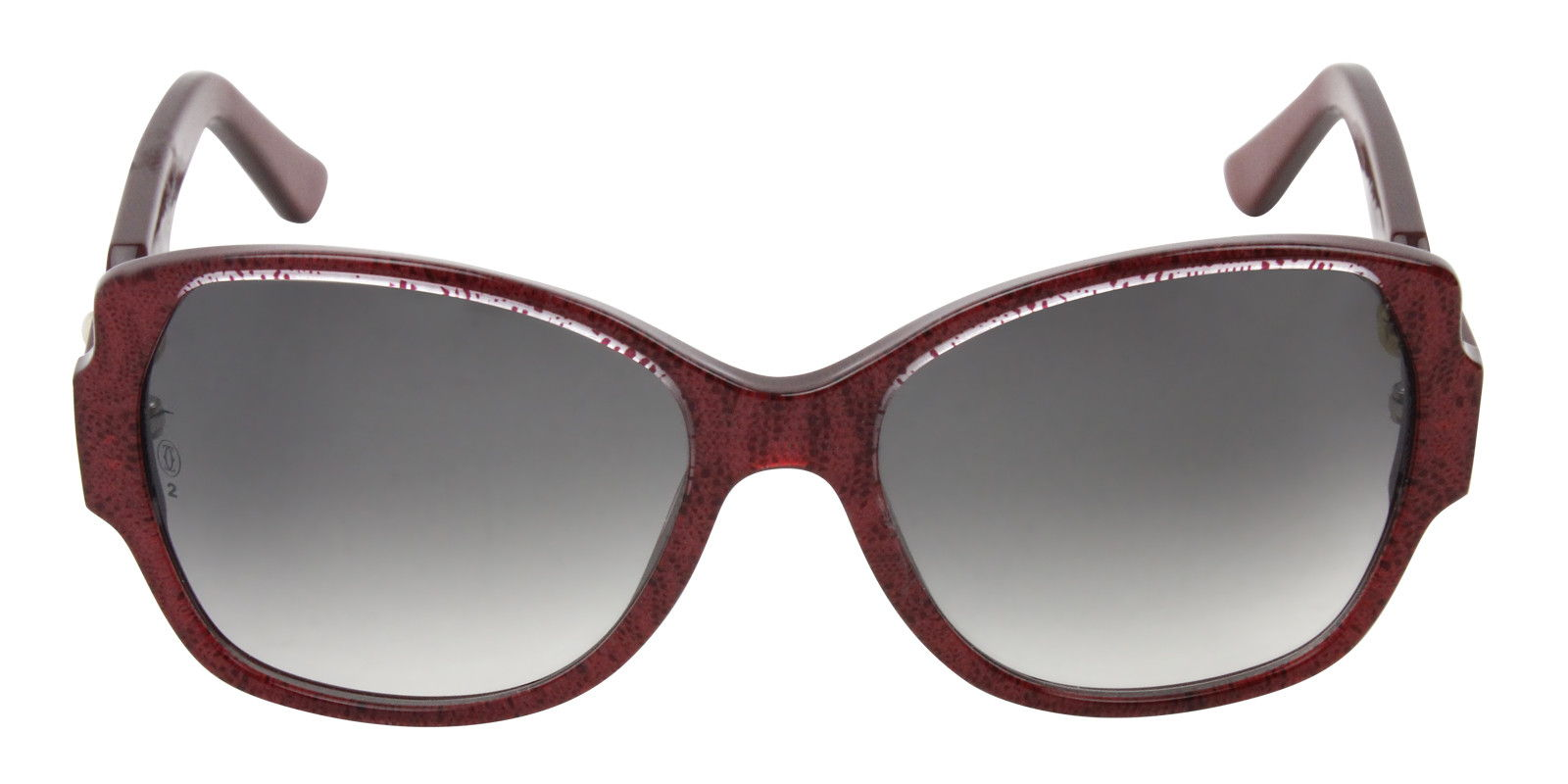 CARTIER WOMEN'S TRINITY T8200914 SUNGLASSES Red (front)