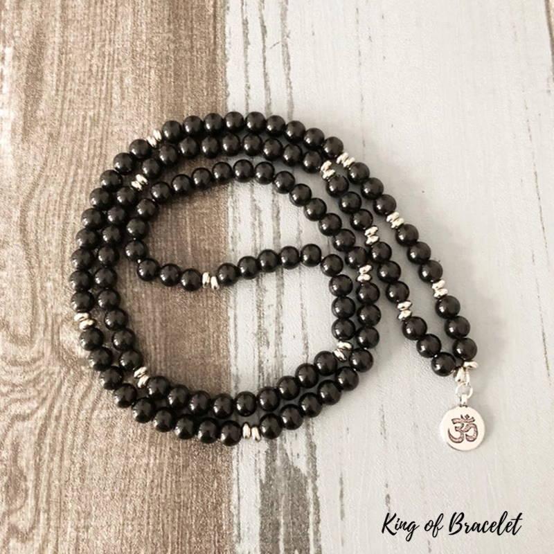 Bracelet Mala 108 Perles en Onyx - King of Bracelet