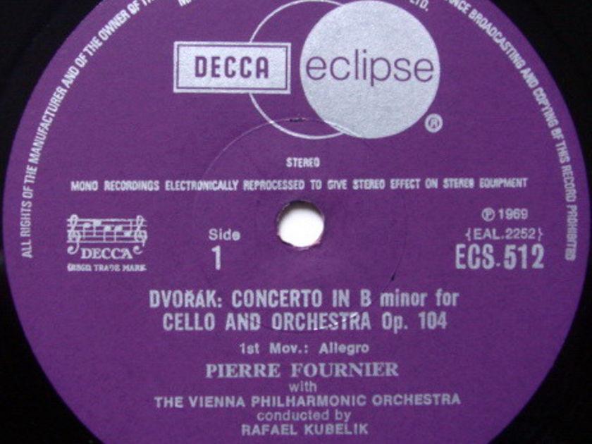 DECCA ECLIPSE / PIERRE FOURNIER-KUBELIK, - Dvorak Cello Concerto, MINT!