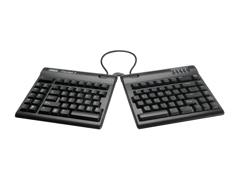 Thin ergonomic keyboard