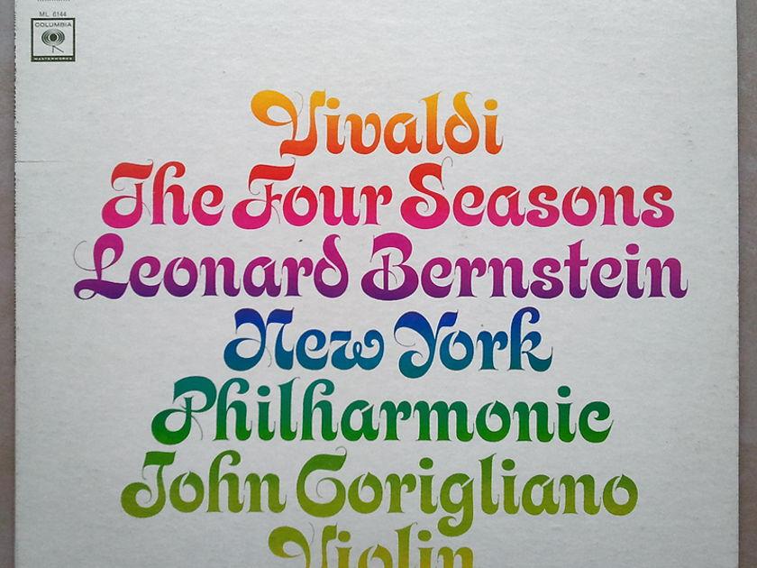 COLUMBIA 2-EYE | CORIGLIANO/BERNSTEIN//VIVALDI - The Four Seasons / VG+