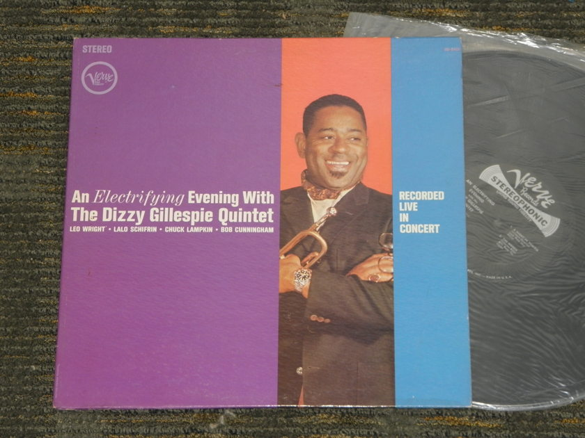 Dizzy Gillespie+Lalo Schifrin+more - An Electrifying Evening W/The Dizzy Gillespie Quin tet Verve Stereo V6-8401 First Pressing STEREO
