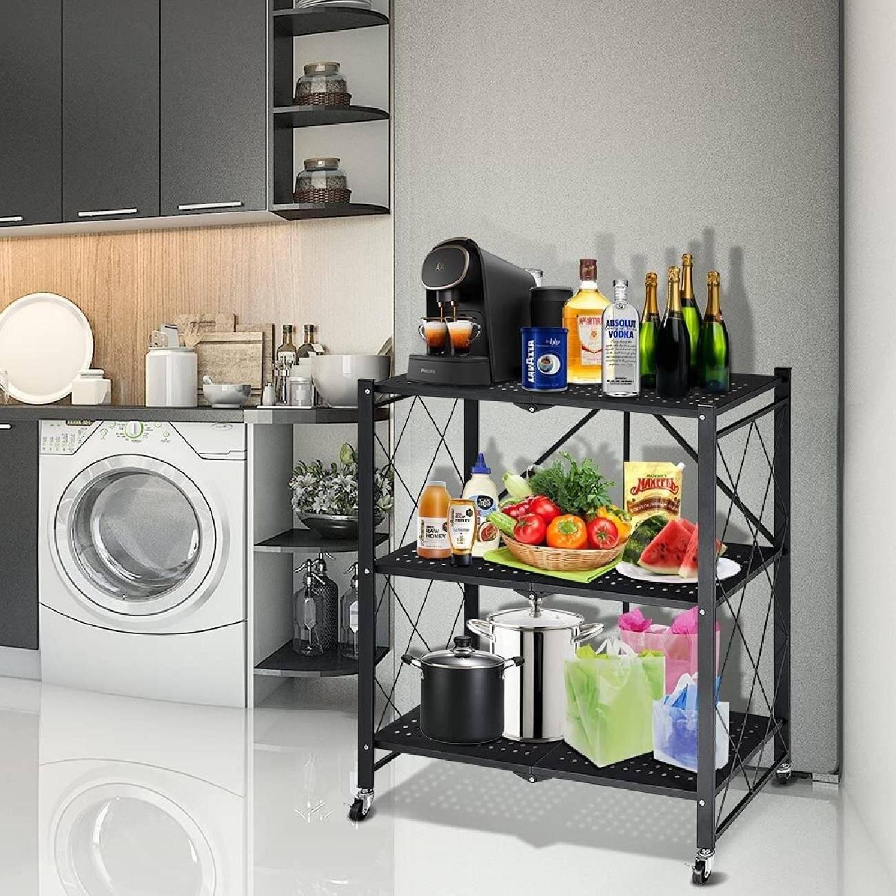 kitchen rack, pantry shelf, kitchen shelf,