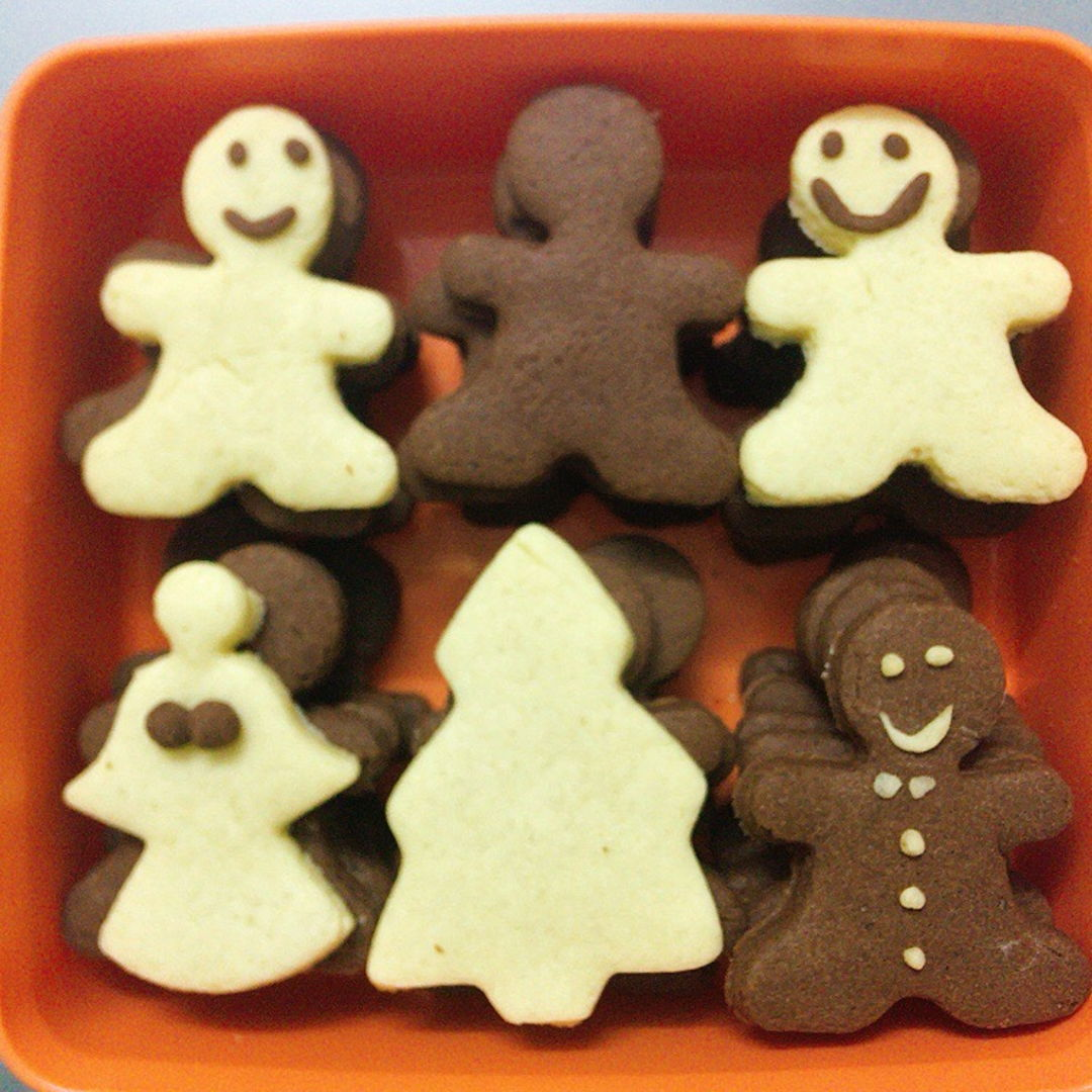 Gingerbread mans using butter cookies recipe.  Merry Christmas peeps  🎄 ....