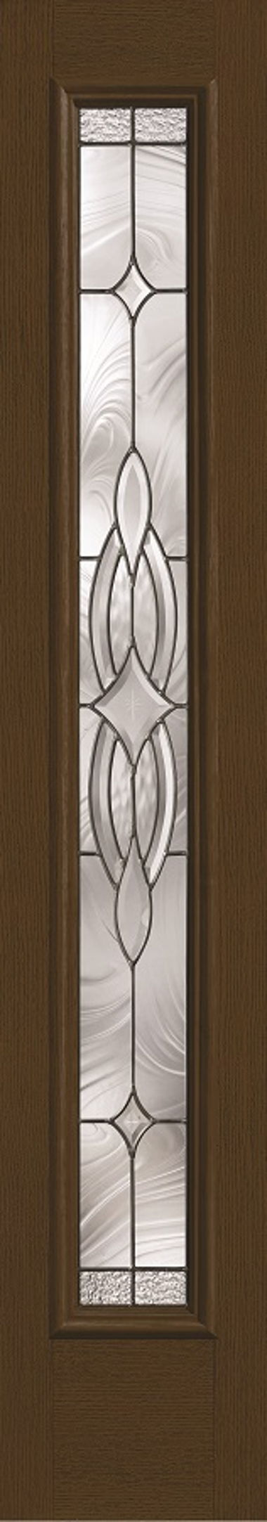DECORATIVE OVAL WOOD GRAIN SIDELIGHT