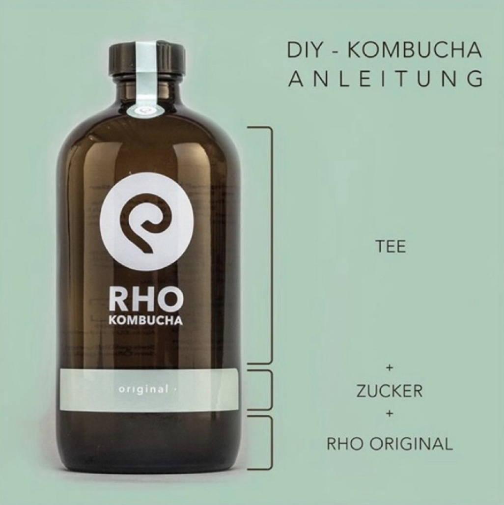 Zusammenstellung worauf der Kombucha besteht TEE,Zucker RHO Original