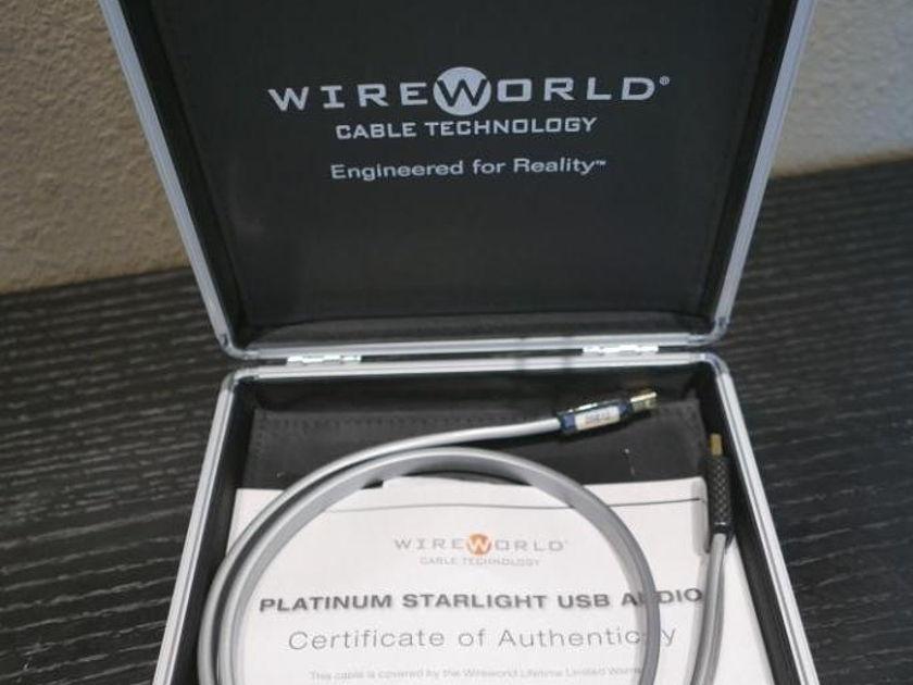 Wireworld Platinum Starlight 7 USB 2.0 (A to B) 1m Excellent