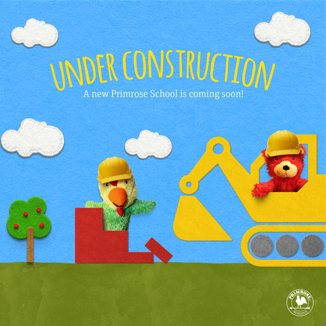 Under construction Facebook and Website Graphic