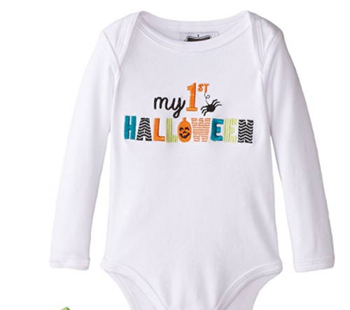 My First Halloween onesie for preemie in neonatal intensive care unit for holiday