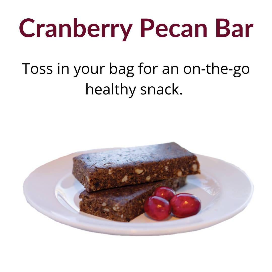 Cranberry Pecan Bar: Toss in your bag for an on-the-go healthy snack.