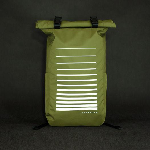 Оливковый ролл топ рюкзак  / Сумка со светоотражающим принтом