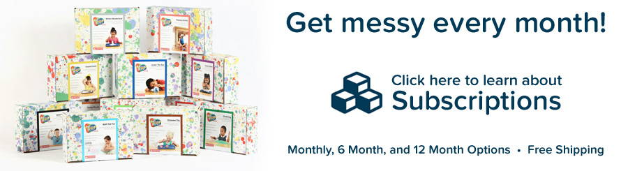Get messy every month with Messy Play Kit subscriptions