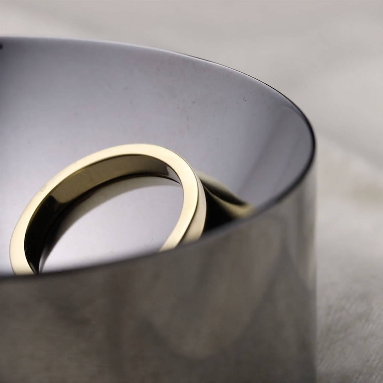 Black Nickel Dish 60 with Round Ring